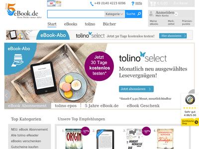 Bildschirmfoto für eBook.de