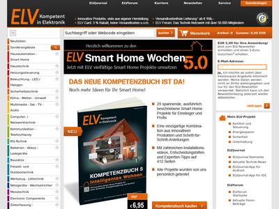 Bildschirmfoto für ELV
