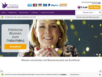 Bildschirmfoto für euroflorist