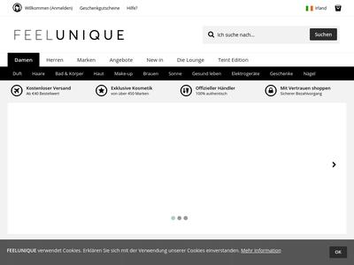 Bildschirmfoto für Feelunique