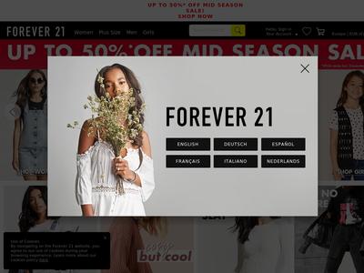 Bildschirmfoto für forever 21