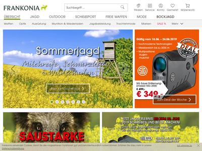 Bildschirmfoto für Frankonia