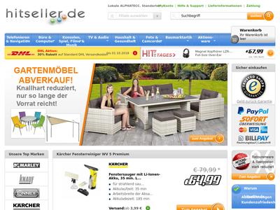 Bildschirmfoto für hitseller.de