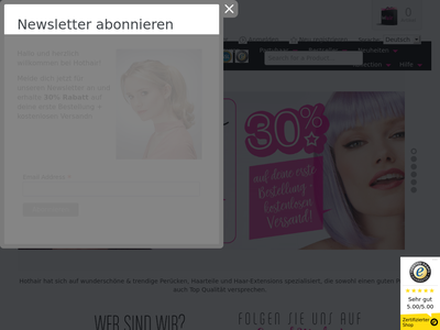 Bildschirmfoto für Hothair