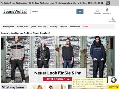 Bildschirmfoto für Jeanswelt