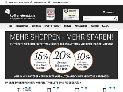 Bildschirmfoto für koffer-direkt.de