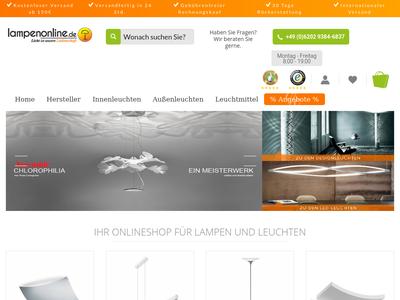 Bildschirmfoto für Lampenonline