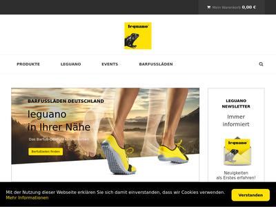 Bildschirmfoto für leguano.eu
