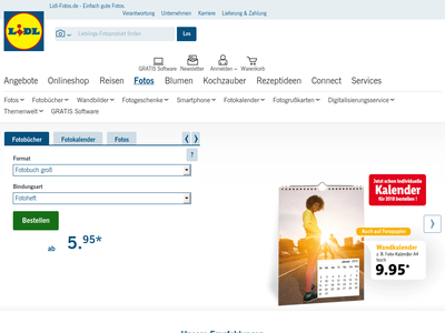 Bildschirmfoto für Lidl-Fotos