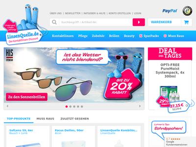 Bildschirmfoto für LinsenQuelle.de