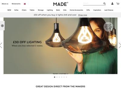Bildschirmfoto für made.com