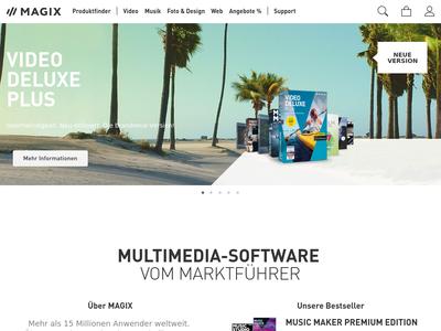Bildschirmfoto für MAGIX Software