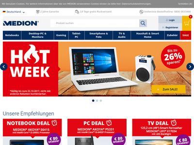 Bildschirmfoto für Medion