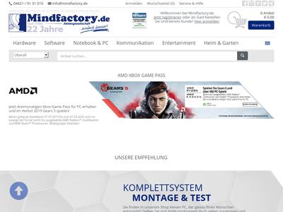 Bildschirmfoto für Mindfactory.de