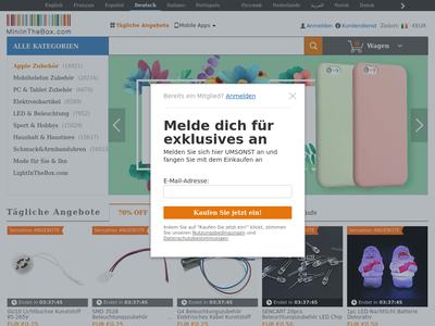 Bildschirmfoto für MiniInTheBox