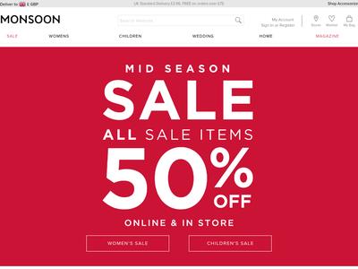 Bildschirmfoto für monsoonlondon.com