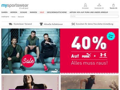 Bildschirmfoto für Mysportswear