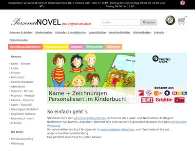 Bildschirmfoto für PersonalNOVEL