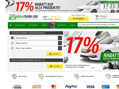 Bildschirmfoto für Pkwteile.de