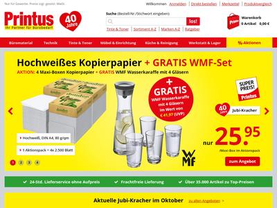 Bildschirmfoto für printus.de