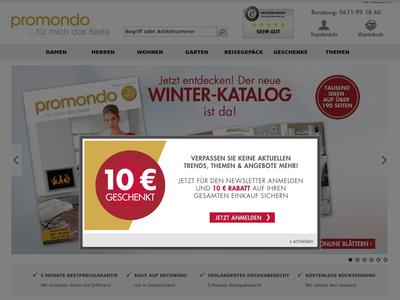 Bildschirmfoto für Promondo