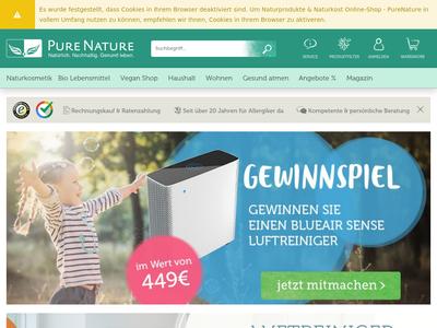 Bildschirmfoto für PureNature