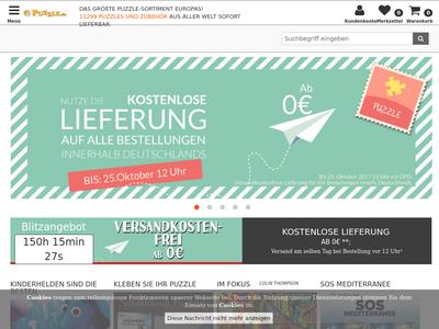 Bildschirmfoto für Puzzle.de