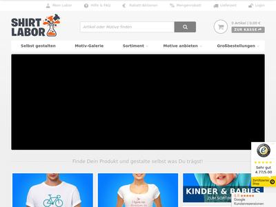 Bildschirmfoto für Shirtlabor