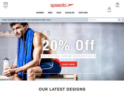 Bildschirmfoto für speedo.com