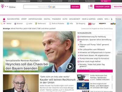 Bildschirmfoto für T-Online
