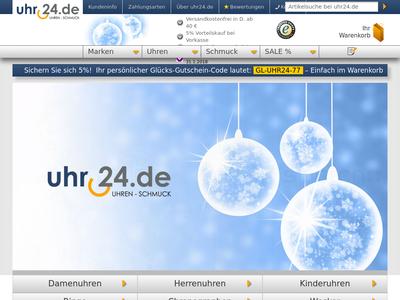 Bildschirmfoto für uhr24.de
