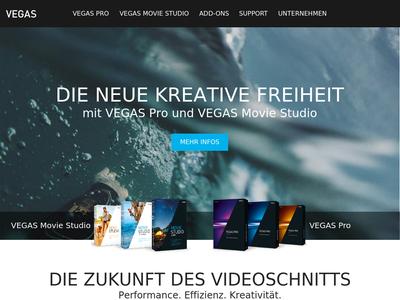 Bildschirmfoto für Vegas Creative Software