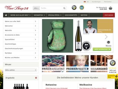 Bildschirmfoto für VineShop24