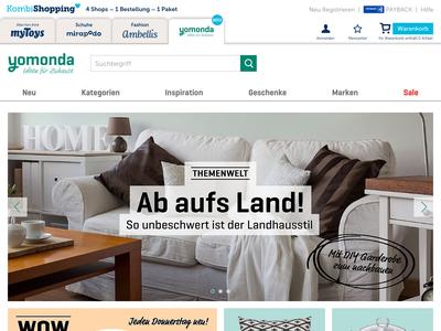 Bildschirmfoto für yomonda.de