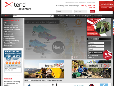Bildschirmfoto für Xtend Adventure