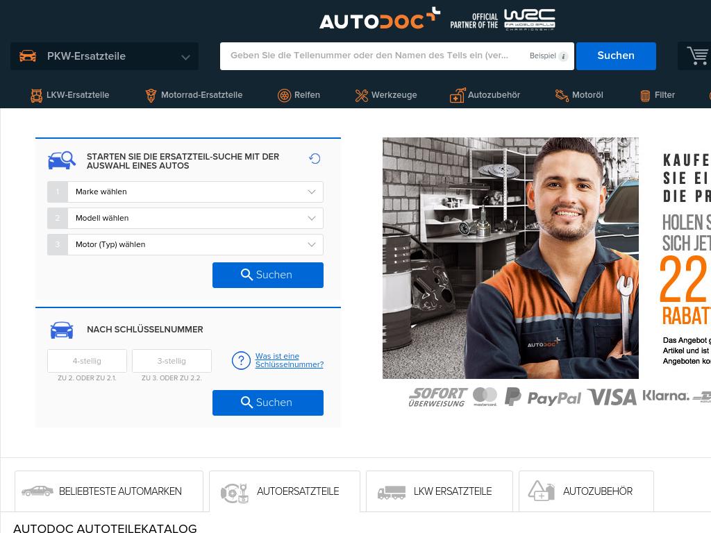 Bildschirmfoto für AUTODOC