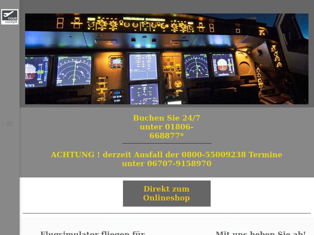 Bildschirmfoto für flyipilot.de